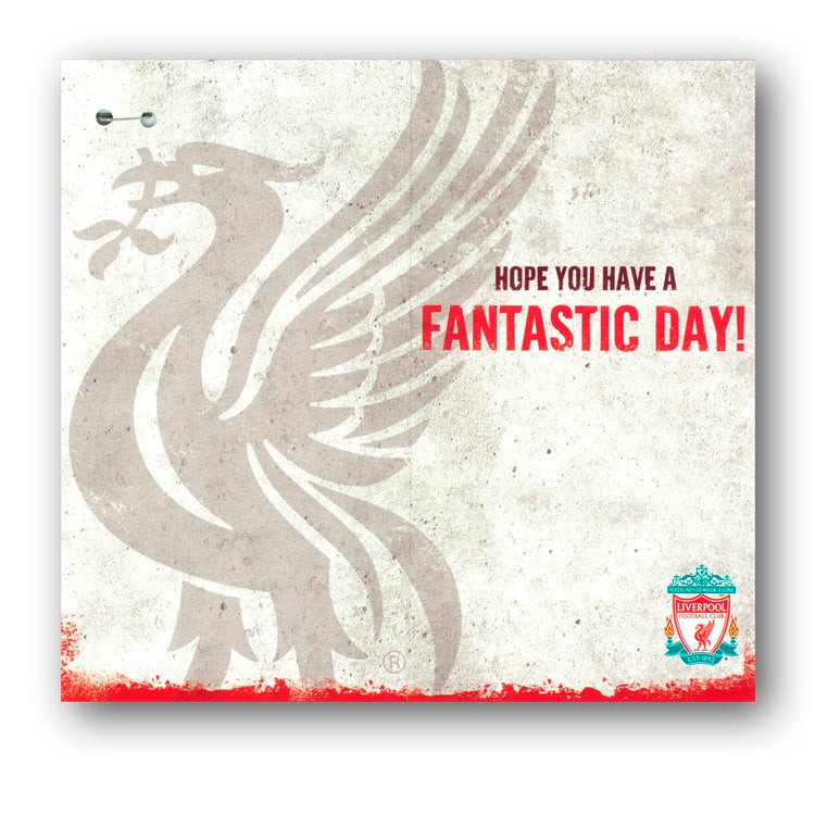 Liverpool FC Birthday Card With Badge