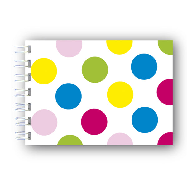A6 Multi Coloured Wire Bound Notebook from Dormouse Cards