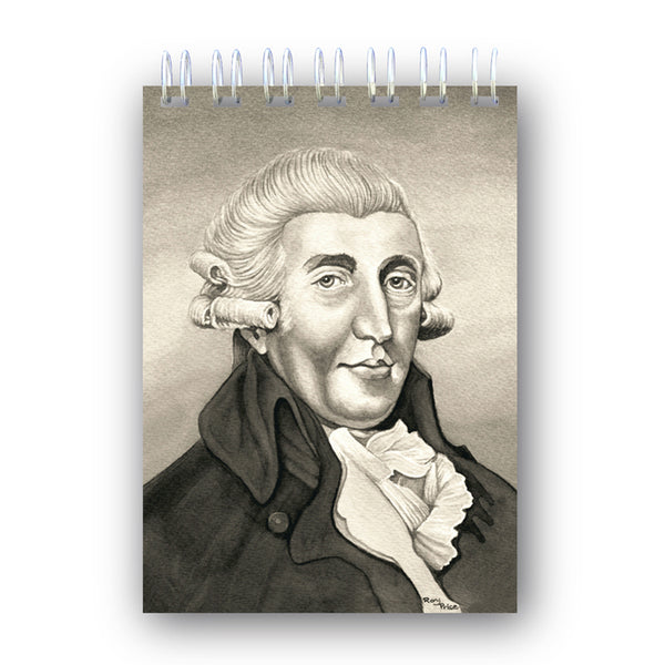 Haydn Wire Bound Notebook from Dormouse Cards