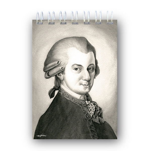 A6 Mozart Wire Bound Notebook from Dormouse Cards