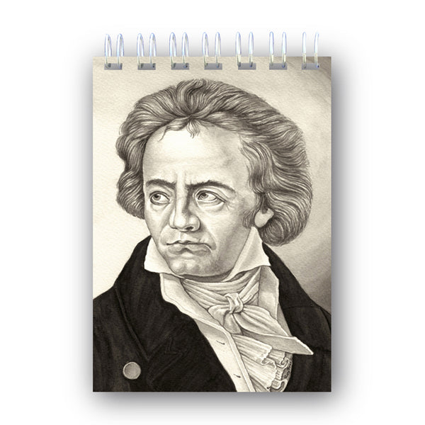 A6 Beethoven Wire Bound Notebook from Dormouse Cards