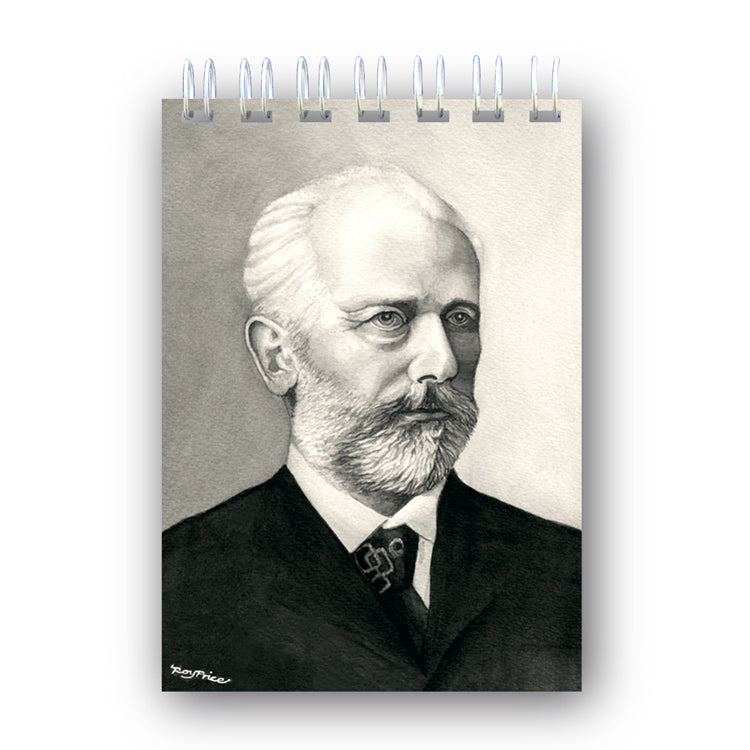 A6 Tchaikovsky Wire Bound Notebook from Dormouse Cards