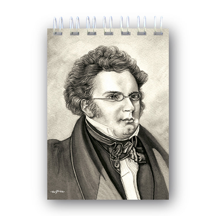 A6 Schubert Wire Bound Notebook from Dormouse Cards