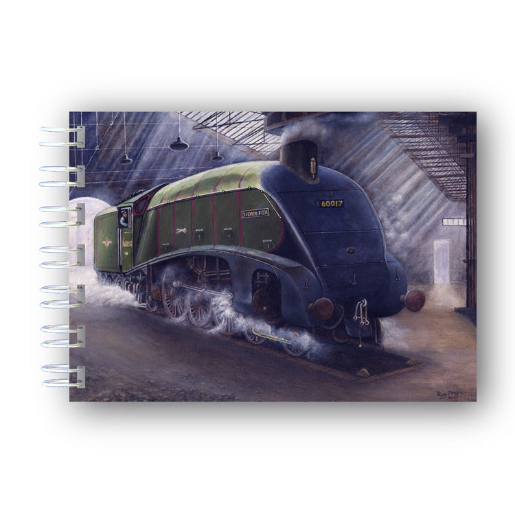 A6 Silver Fox Steam Train Wire Bound Notebook from Dormouse Cards