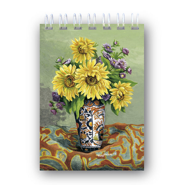 A6 Sunflowers Wire Bound Notebooks from Dormouse Cards