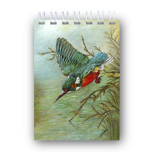 A6 Wire Bound Kingfisher Notebook from Dormouse Cards