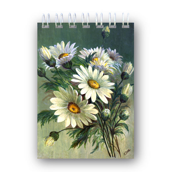 A6 Wire Bound Marguerites Notebook from Dormouse Cards
