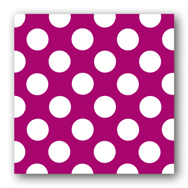 Fuschia and White Polka Dot Notelets from Dormouse Cards
