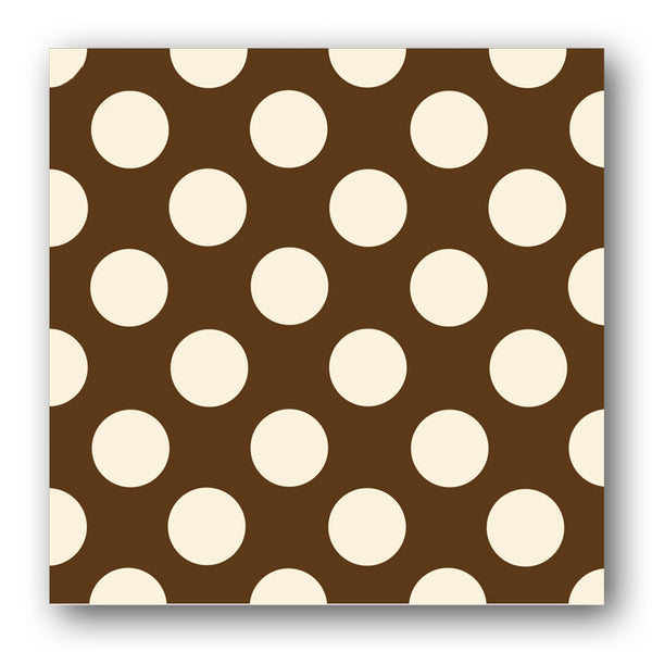Brown and Cream Polka Dot Notelets from Dormouse Cards