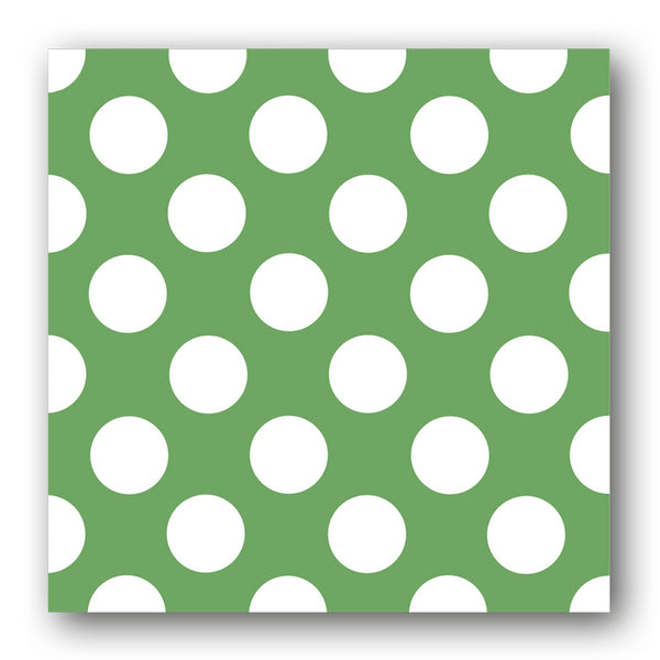 Green and White Polka Dot Notelets from Dormouse Cards