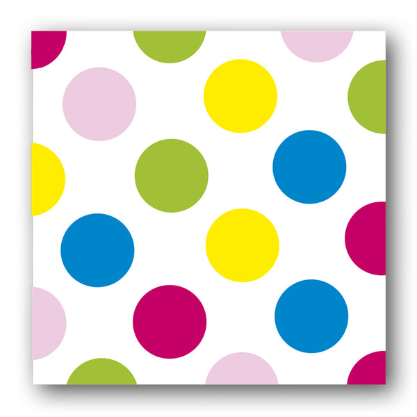 Multi Coloured Polka Dot Notelets from Dormouse Cards