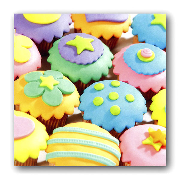 Birthday Greetings Card Cupcakes Dormouse Cards