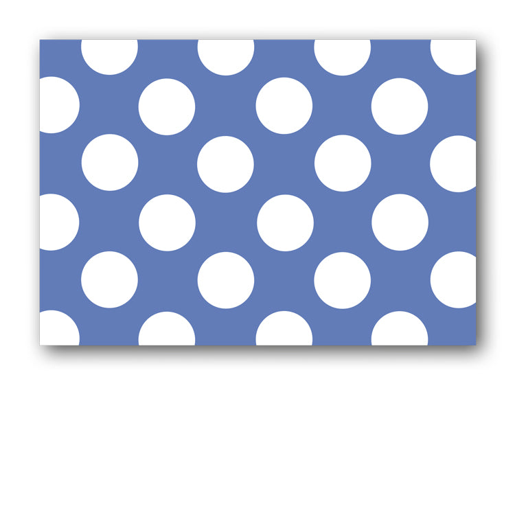 Blue and White Polka Dot Postcards from Dormouse Cards