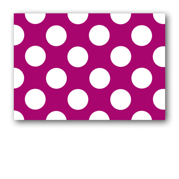 Pack of 10 A6 Fuschia and White Polka Dot Postcards