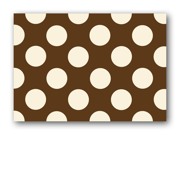 Brown and Cream Polka Dot Postcards from Dormouse Cards
