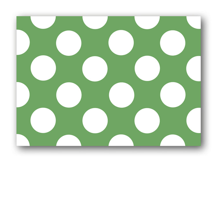 Green and White Polka Dot Postcards from Dormouse Cards