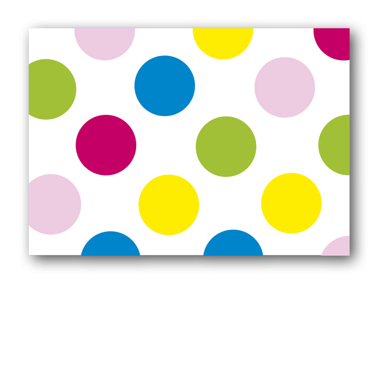 Colourful Polka Dot Postcards from Dormouse Cards