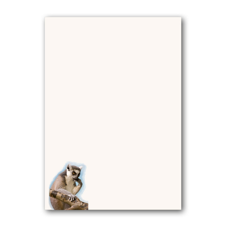 A5 Lemur Notepaper from Dormouse Cards