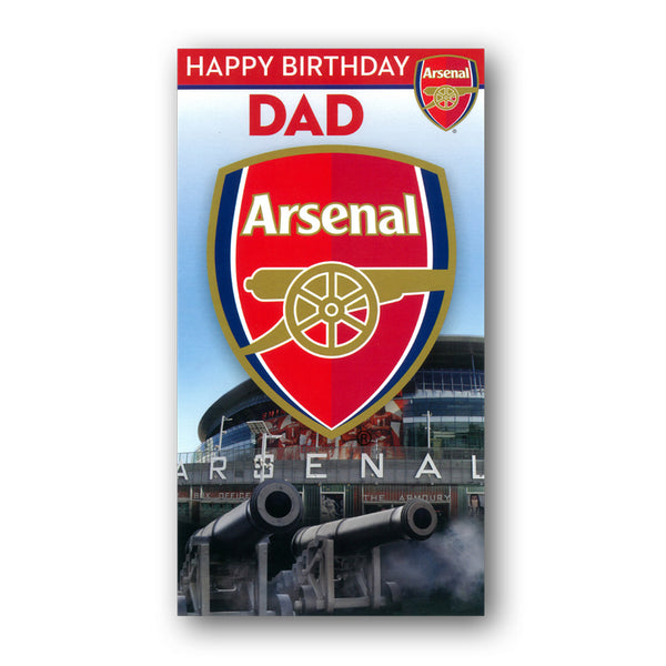 Arsenal Birthday Card - Dad from Dormouse Cards