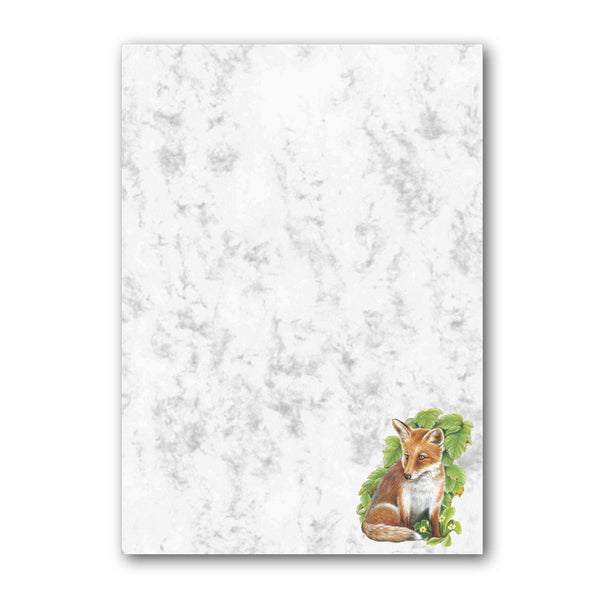 A5 Fox Marble Notepaper from Dormouse Cards