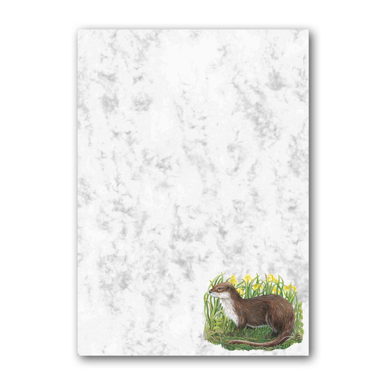 A5 Otter Marble Notepaper from Dormouse Cards