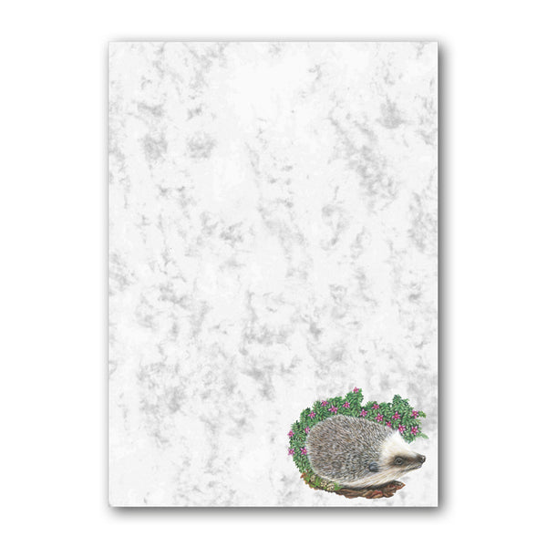 A5 Hedgehog Marble Notepaper from Dormouse Cards