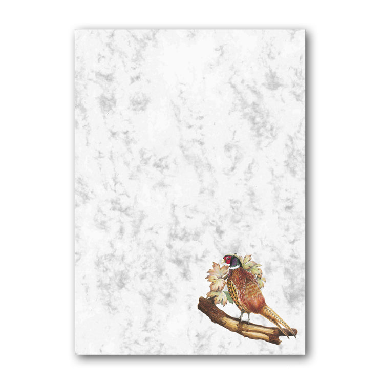 A5 Pheasant Marble Notepaper from Dormouse Cards