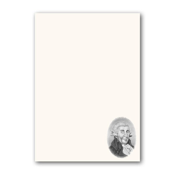Haydn A5 Notepaper from Dormouse Cards
