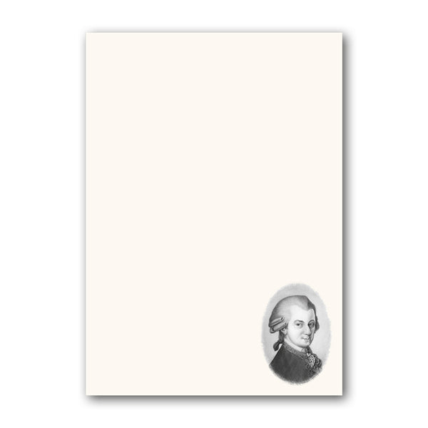 Mozart Notepaper from Dormouse Cards