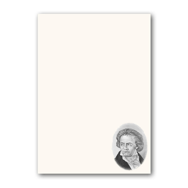 A5 Beethoven Notepaper from Dormouse Cards