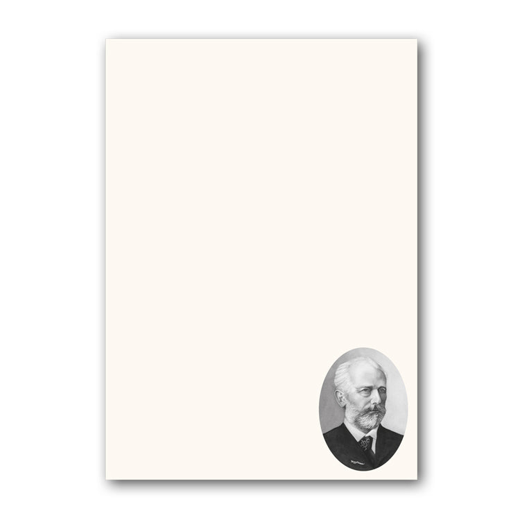 A5 Tchaikovsky Notepaper from Dormouse Cards