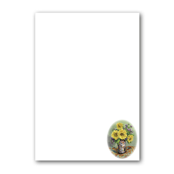 Sunflowers Notepaper