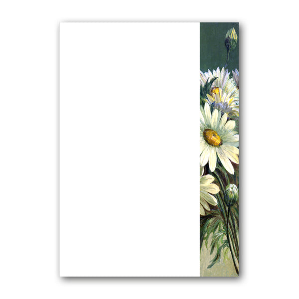 A5 Marguerites Notepaper from Dormouse Cards