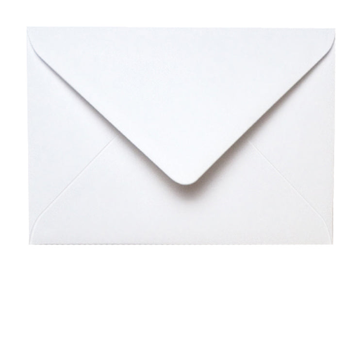 C5 Diamond Flap White Envelopes supplied with Oyster Conqueror textured blank Greetings Cards from Dormouse Cards