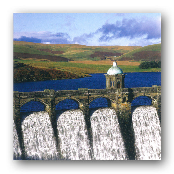 Elan Valley Reservoirs Wales Birthday Greetings Card from Dormouse Cards
