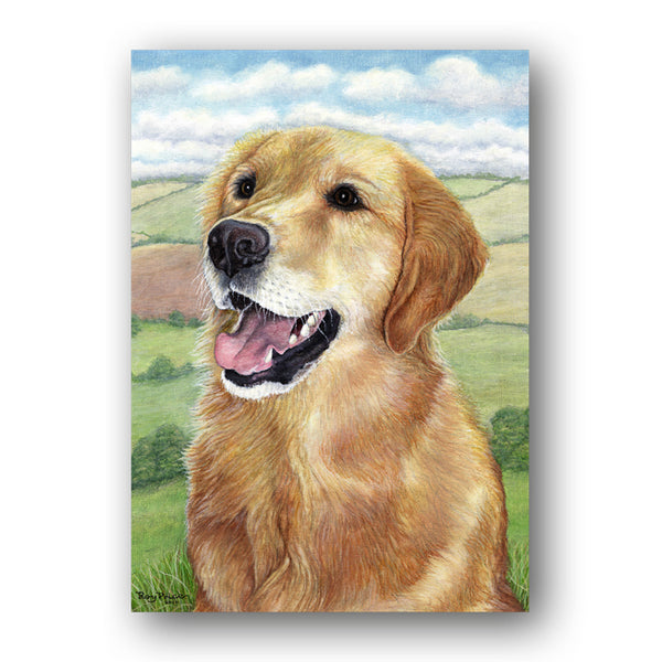 Pack of 5 A6 Golden Retriever Notelets from Dormouse Cards