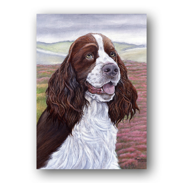 English Springer Spaniel Father's Day Card from Dormouse Cards