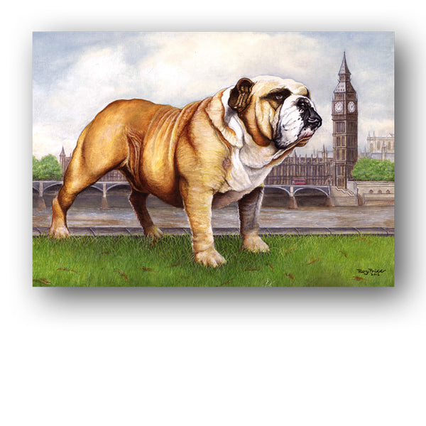 Bulldog Big Ben Westminster Greetings Card from Dormouse Cards