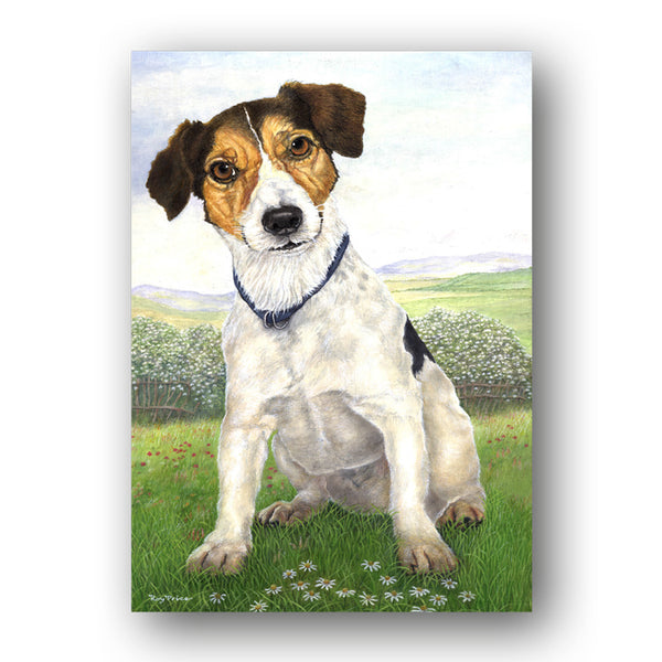 Pack of 5 A6 Jack Russell Terrier Notelets from Dormouse Cards