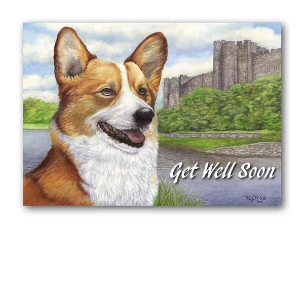 Welsh Corgi Get Well Soon Card from Dormouse Cards