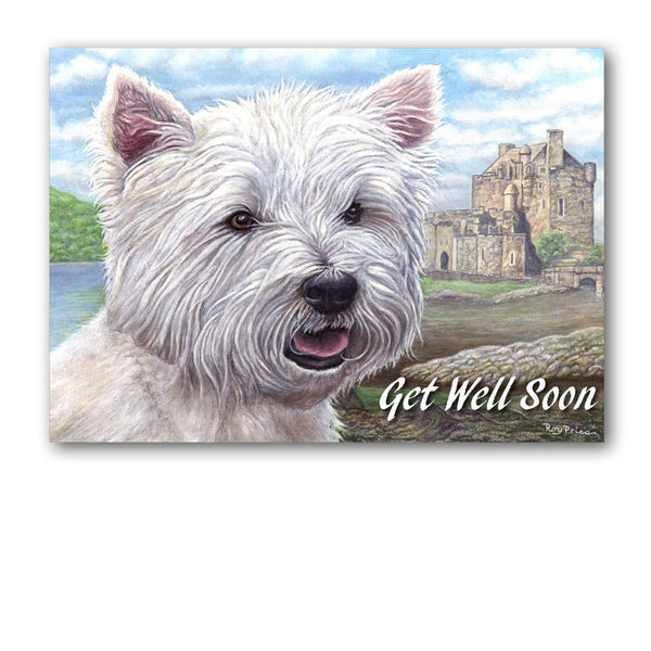 West Highland Terrier Westie Get Well Soon Card from Dormouse Cards