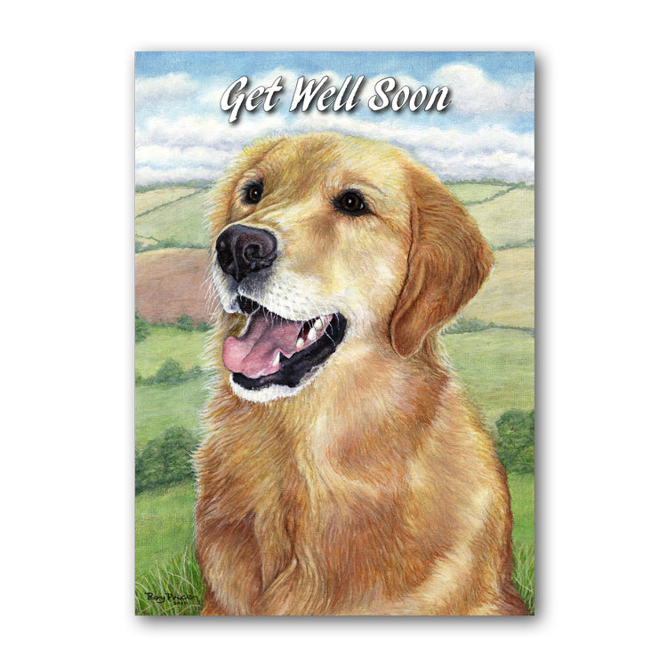 Golden Retriever Get Well Soon Card from Dormouse Cards