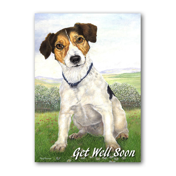 Jack Russell Terrier Get Well Soon Card from Dormouse Cards
