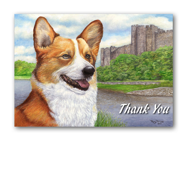 Welsh Corgi Thank You Card from Dormouse Cards