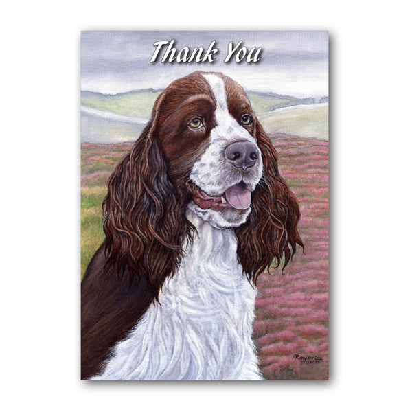 English Springer Spaniel Thank You Card from Dormouse Cards