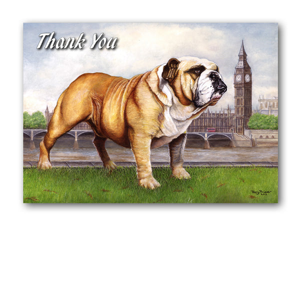 Bulldog Thank You Card from Dormouse Cards