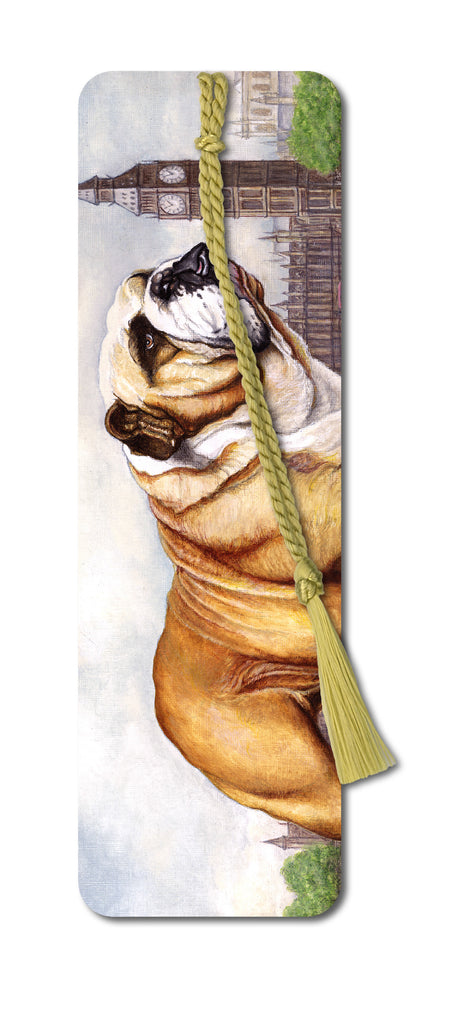 Bulldog Bookmark from Dormouse Cards