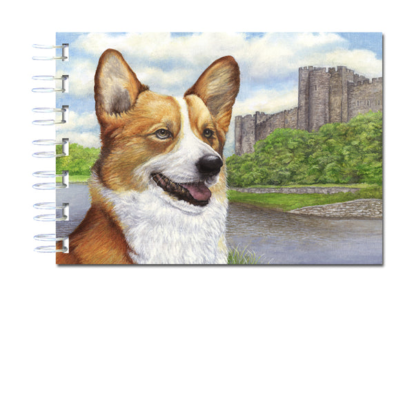 A6 Welsh Corgi Wire Bound Notebook