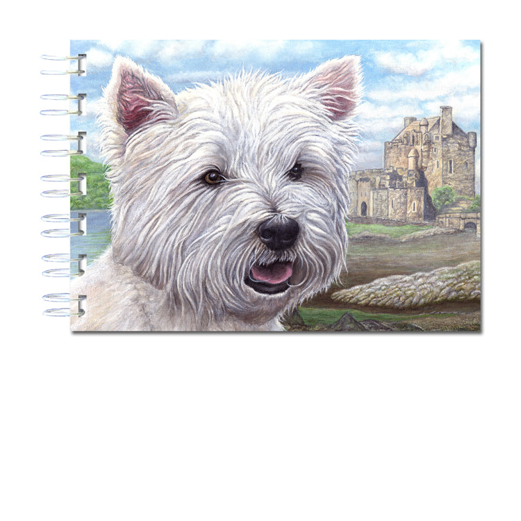 A6 Wire Bound West Highland White Terrier Notebook from Dormouse Cards