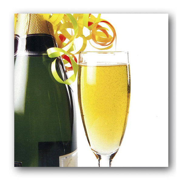 Congratulations Celebration Greetings Card Champagne Bottle Glass Dormouse Cards